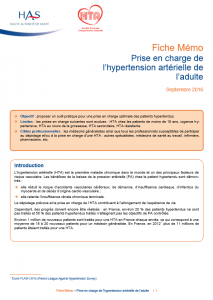 Image Prise en charge de l'hypertension de l'adulte