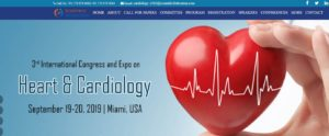 "3rd International Congress and Expo on Heart & Cardiology"" (Cardiology-2019) @ Miami, Etats-Unis"
