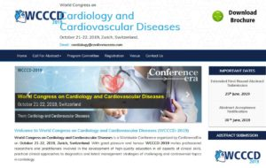 World Congress on Cardiology and Cardiovascular Diseases (WCCCD-2019) @ Zurich, Suisse