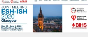 Joint Meeting of the European Society of Hypertension (ESH) and International Society of Hypertension (ISH) @ Glasgow, UK